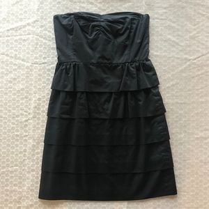 Black strapless J. Crew mini dress size 0